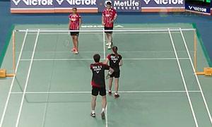 申白喆/蔡侑玎VS维迪安托/蒂莉 2015韩国公开赛 混双1/8决赛视频
