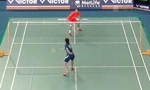 王仪涵VS王适娴 2015韩国公开赛 女单半决赛视频