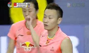 张楠/赵芸蕾VS艾哈迈德/纳西尔 2015韩国公开赛 混双决赛视频