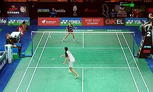 李文珊VS奥原希望 2015丹麦公开赛 女单1/8决赛视频