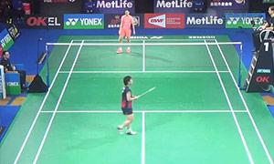 李雪芮VS山口茜 2015丹麦公开赛 女单1/8决赛视频