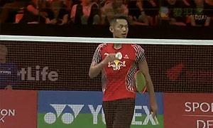 林丹VS胡赟 2015丹麦公开赛 男单1/8决赛视频