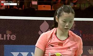 李雪芮VS成池铉 2015丹麦公开赛 女单半决赛视频
