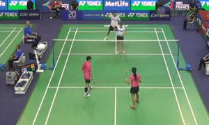 尼尔森/佩蒂森VS陈润龙/谢影雪 2015法国公开赛 混双1/16决赛视频