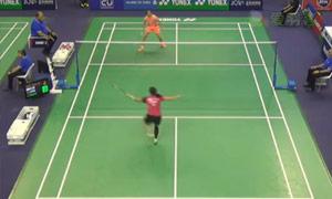 李雪芮VS裴延姝 2015法国公开赛 女单1/8决赛视频