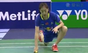 王适娴VS因达农 2015法国公开赛 女单半决赛明仕亚洲官网
