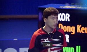 李东根VS李炫一 2015韩国黄金赛 男单决赛明仕亚洲官网