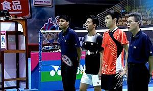 王子维VS毛拉那 2015中华台北羽毛球黄金赛 男单1/4决赛视频