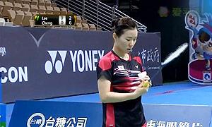 李蔷美VS程琪雅 2015中华台北羽毛球黄金赛 女单1/8决赛视频