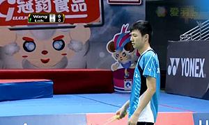 王子维VS骆建佑 2015中华台北羽毛球黄金赛 男单1/8决赛视频