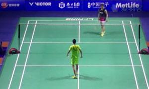 石宇奇VS田儿贤一 2015中国公开赛 男单1/16决赛视频