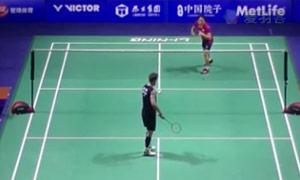 约根森VS上田拓马 2015中国公开赛 男单1/16决赛视频