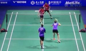 福克斯/迈克斯VS艾哈迈德/纳西尔 2015中国公开赛 混双1/16决赛视频