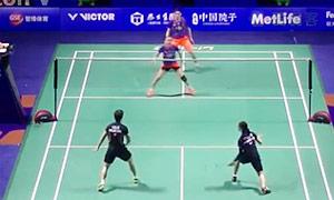 刘成/包宜鑫VS李晋熙/周凯华 2015中国公开赛 混双1/8决赛视频