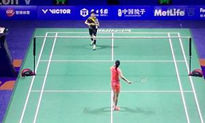 李雪芮VS白驭珀 2015中国公开赛 女单1/8决赛视频