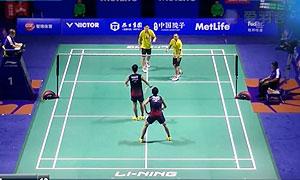 桥本博且/平田典靖VS陈文宏/古健杰 2015中国公开赛 男双1/8决赛视频