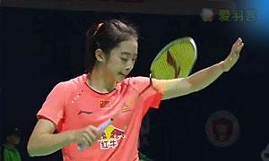 王适娴VS辛德胡 2015中国公开赛 女单1/8决赛视频