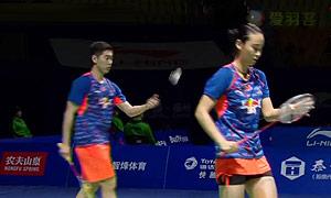 刘成/包宜鑫VS爱德考克/加布里 2015中国公开赛 混双1/4决赛视频