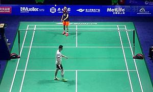 林丹VS胡赟 2015中国公开赛 男单1/4决赛视频