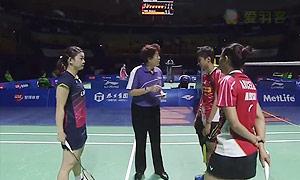 松友美佐纪/高桥礼华VS艾米利亚/宋佩珠 2015中国公开赛 女双1/4决赛视频