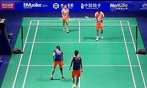 张楠/赵芸蕾VS徐晨/马晋 2015中国公开赛 混双半决赛视频