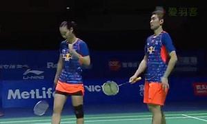 尼尔森/佩蒂森VS刘成/包宜鑫 2015中国公开赛 混双半决赛视频