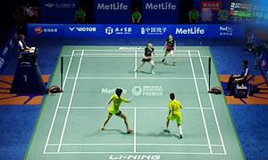 2015中国羽毛球公开赛女双决赛精彩瞬间