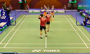 刘成/包宜鑫VS催率圭/严惠媛 2015中国公开赛 混双1/16决赛视频