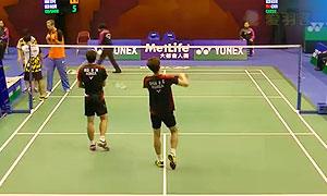 高成炫/申白喆VS黄柏睿/田子杰 2015香港公开赛 男双1/16决赛视频