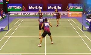 高成炫/金荷娜VS亚历山大/奥克塔维亚尼 2015香港公开赛 混双1/8决赛视频
