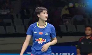 陈雨菲VS金效旻 2015印尼大师赛 女单半决赛视频