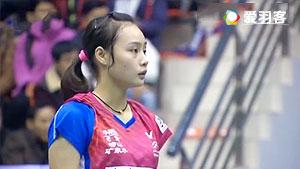 余芊慧VS彭沁 2016中国大师赛 女单1/16决赛视频