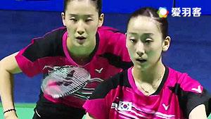 张艺娜/李绍希VS尼萨克/梅里萨 2016中国大师赛 女双1/8决赛视频