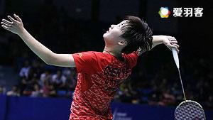 陈雨菲VS胡绫芳 2016中国大师赛 女单1/16决赛视频