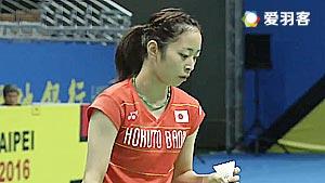 川上纱惠奈VS高桥明日香 2016中华台北大师赛 女单半决赛视频