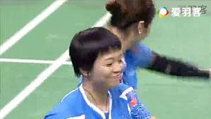 陈清晨/贾一凡VS尤尔/佩蒂森 2016法国公开赛 女双1/4决赛视频