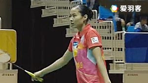 陈雨菲VS王仪涵 2017中国羽超联赛 混合团体小组赛视频