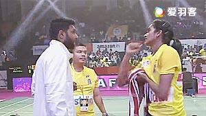 辛德胡VS成池铉 2017印度超级联赛 混合团体小组赛视频