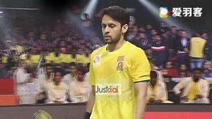 普拉诺VS卡什亚普 2017印度超级联赛 混合团体决赛视频