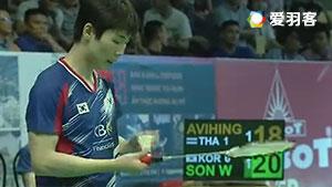 孙完虎VS苏庞余 2017亚洲混合团体赛 混合团体半决赛视频