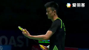 谌龙VS科希特 2017苏迪曼杯 混合团体小组赛视频