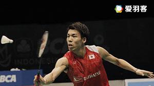 坂井一将VS普拉诺 2017印尼公开赛 男单半决赛视频