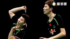 李俊慧/刘雨辰VS鲍伊/摩根森 2017印尼公开赛 男双决赛视频