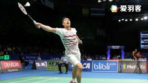 周天成VS茨维布勒 2017羽毛球世锦赛 男单1/16决赛视频