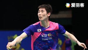 孙完虎VS斯里坎特 2017羽毛球世锦赛 男单1/4决赛视频