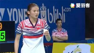 浅村和美VS韩悦 2017世界青年羽毛球锦标赛 混合团体半决赛视频