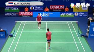 昆拉武特VS梁峻豪 2017世界青年羽毛球锦标赛 男单决赛视频
