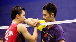 林丹VS陶菲克 2011东莞四大天王争霸赛 男单半决赛视频