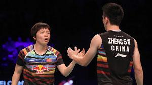 郑思维/陈清晨VS乔丹/苏珊托 2017世界羽联总决赛 混双小组赛视频