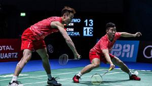 刘成/张楠VS鲍伊/摩根森 2017世界羽联总决赛 男双半决赛视频